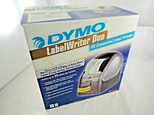 Dymo Label Writer Duo Thermal Printer Complete Bundle W 4 Label Rolls 93105