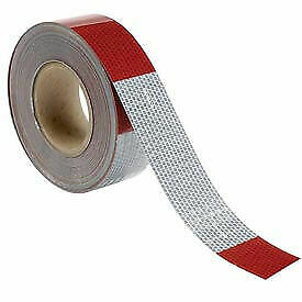 Conspicuity Reflective Tape 11 7 Pattern 13 Mil Vinyl Red white Dot c2