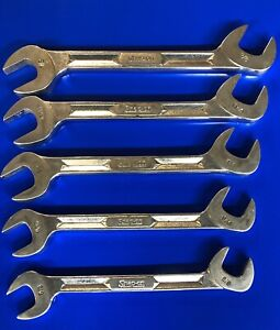 Vintage Snap On Sae 5pc 4 Way Angle Head Wrench Set I Beam Style Vs Series