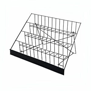 4 tier 29 Wire Display Rack Literature Brochure Magazine Stand Book Tabletop