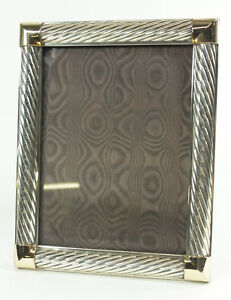 Gucci 925 Sterling Silver Brass Picture Frame Vintage Made In Italy Anka