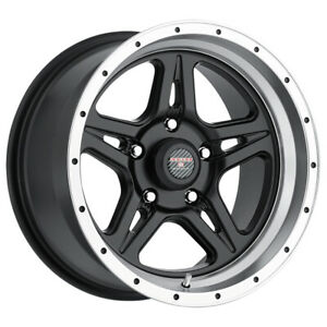 4 Level 8 Strike 5 17x9 5x114 3 5x4 5 0mm Black Machined Wheels Rims