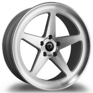 Qty4 staggered Marquee M9535 20x9 10 5 5x115 15 Polish silver