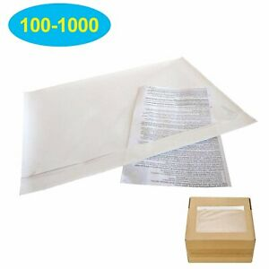 6 X 9 Clear Adhesive Top Loading Packing List shipping Label Envelopes Pouch