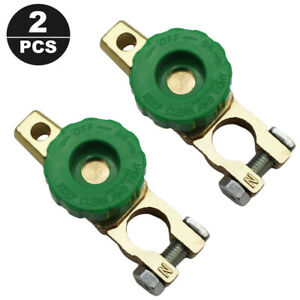 2x Car Boat Battery Terminal Quick Cut On Off Disconnect Master Kill Switch Fast