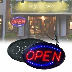 Led Business Open Sign Animated Motion Running Neon Light Store Bar Practical