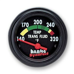 Banks Power 64125 Trans Oil Temp Gauge Color Coded Face