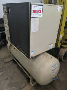 Ingersoll Rand Rotary Screw Air Compressor 15hp 55cfm 55 Cfm Up6 15ctas 125 W