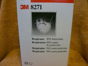 New 3m 8271 Particulate Respirator Masks Box Of 10 F s