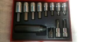 Snap On Usa 12 Piece Impact Driver Set 1 2 Drive Pit3120 Nos
