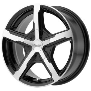 4 Ar921 Trigger 17x8 5x115 15mm Black Machined Wheels Rims 17 Inch