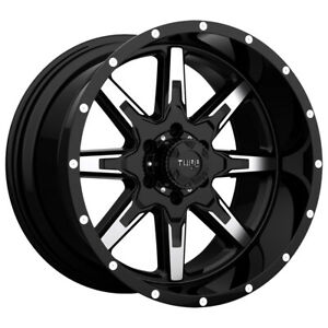 Tuff T 15 22x10 6x139 7 6x5 5 19mm Black Machined Wheel Rim