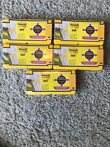 5 Lot Post it Notes Super Sticky Full Adhesive 12 Packs 25 Sheets Each 3 X 3
