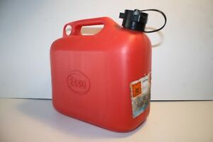 Vintage Red Esso Service Station Spare Fuel Can Plastic Used