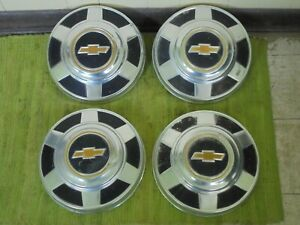 73 87 Chevy 3 4 Ton Dog Dish Hubcaps 12 Set Of 4 Pickup Truck 16 16 5 C20 C30