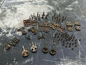 Antique Treadle Sewing Machine Cabinet Hardware Large Lot