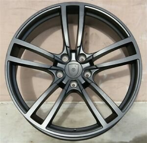 Set 4 New Turbo Tyle 22x10 5x130 Matte Black Wheels Fit Porsche Cayenne S Gts