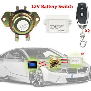 12v Car Remote Control Battery Switch Disconnect Anti theft Power Master Kill