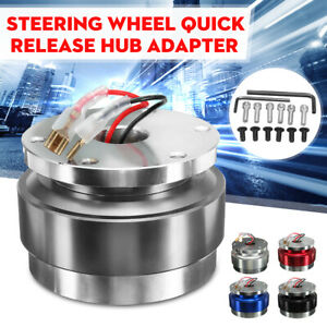 Universal Short Quick Release Kit Fit 6 Hole Steering Wheel Hub Boss Adapter