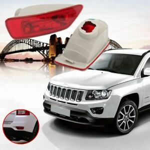 Pair Rear Reflector Fog Light Lamp Cover For 11 16 Jeep Compass Grand