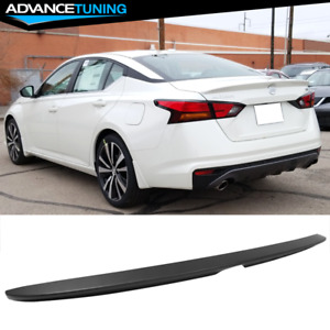 Fits 19 20 Nissan Altima Sedan Oe Factory Trunk Spoiler Wing Matte Black Abs