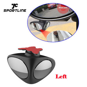 New Auto View Parking Mirror 360 Rotatable 2 Side Car Blind Spot Convex Mirror