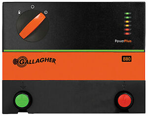Gallagher North America Power Plus Battery Electric Fence Charger B80 0 8 Joul