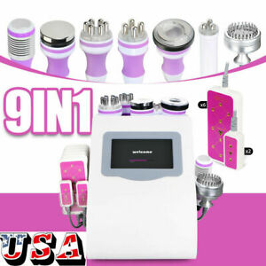 9in1 Vacuum Ultrasonic Cavitation 40k Rf Body Slimming Cellulite Reduce Machine