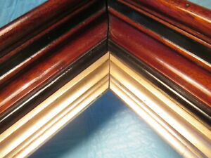 Antique Deep Well Wood Picture Frame Victoria Eastlake Parlor Wall Mount Decor