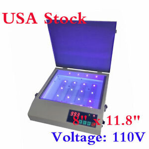 Us 110v 8 X 11 8 16w Led Exposure Unit Machine Screen Printing Equipment