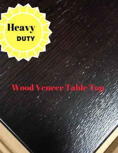 Restaurant Wood Venner Table Top In Dark Walnut Quickship All Sizes
