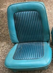 Ford Mustang 1965 1966 1967 1968 Bucket Seat Right Upholstered Good Frame