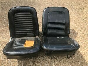 Ford Mustang 1965 1966 1967 Bucket Seat Left Right Orig Upholstery Good Frames