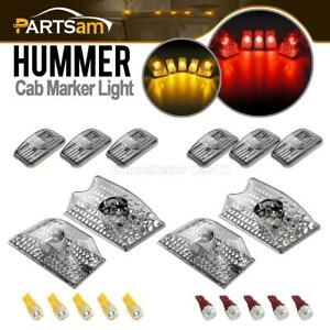 10xclear Roof Clearance Top Lamp 10xred amber 5730 W5w Led Bulb For 03 09 Hummer