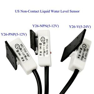 Us Non contact Liquid Water Level Sensor Induction Switch Detector Y26 v pnp npn