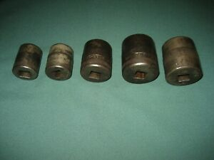 Vintage Snap on 5 8 Drive Sockets Dh Series 1930