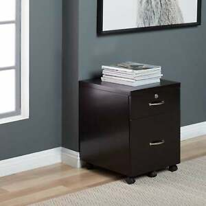 Studio Designs Home Newell Locking 2 Drawer Mobile File Cabinet With Casters
