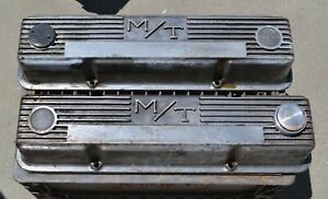 Lot Of 2 Mickey Thompson M T Chevrolet Small Block Engine Valve Cover 140r 50b