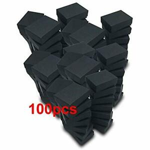 Pack Of 100 Cotton Filled Cardboard Paper Black Jewelry Box Gift Case Matte 2