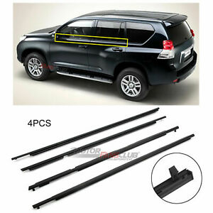4pcs Weatherstrip Moulding Trim Fit For Toyota Prado Gdj150 Grj150 Kdj150 Lj150