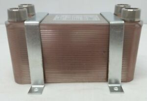 50 Plate Water To Water Brazed Plate Heat Exchanger 1 Mpt Ports W Brackets