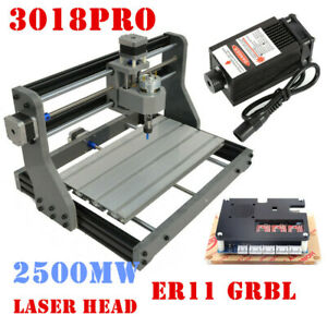 3axis Cnc 3018 Router Grbl Control Pcb Milling Cutting Wood Carving 2500mw Laser