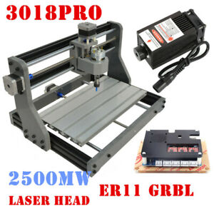 3axis Cnc 3018 Router Grbl Control Pcb Milling Cutting Wood Carving Laser 2500mw