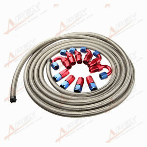 An8 8an Stainless Steel Braided Oil Fuel Hose Fitting Hose End Adaptor