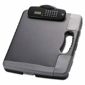 Officemate Portable Storage Clipboard Case With Calculator 11 3 4 X 14 1 2