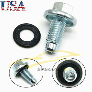Engine Oil Pan Drain Plug With Seal W o For Gm Buick Cadillac 11562588