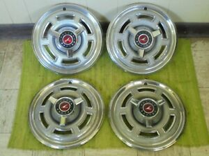 1965 Ford Falcon Spinner Hub Caps 14 Set Of 4 Wheel Covers Hubcaps 65