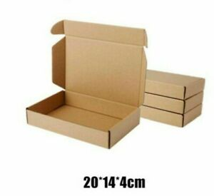 Paper Box Kraft Packaging Storage Recyclable Packing Shipping Material 10pcs lot