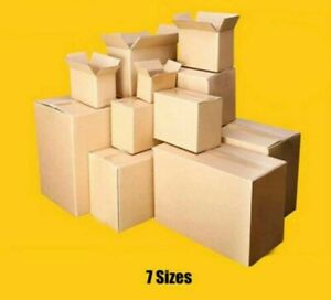 Kraft Paper Mailing Boxes For Shipping Delivery Product Document Packaging 10pcs