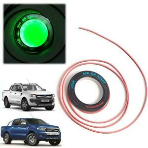 For 2011 2018 Ford Ranger Ignition Switch Key Hole Ring Light Green 1pc